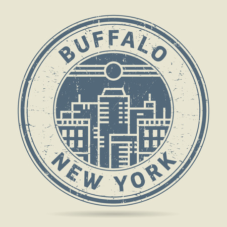 Grunge rubber stamp or label with text Buffalo, New York written inside, vector illustration