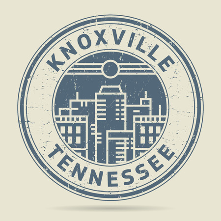 civilisation: Grunge rubber stamp or label with text Knoxville, Tennessee written inside, vector illustration Illustration