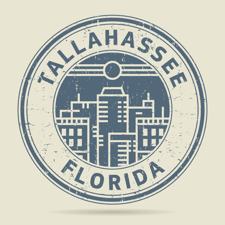 Tallahassee: Grunge rubber stamp or label with text Tallahassee, Florida written inside, vector illustration