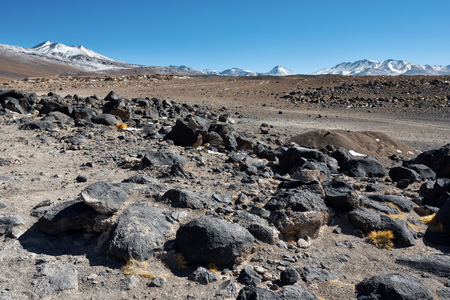 nevado: Altiplano volcanic desert in Bolivia, South America