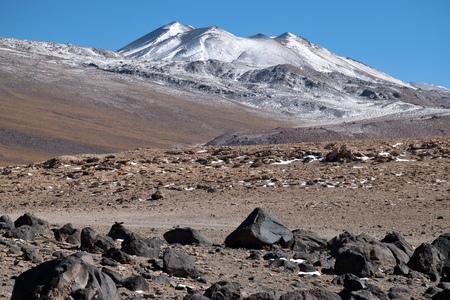 stratovolcano: Altiplano volcanic desert in Bolivia, South America