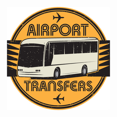 transfers: Airport Transfers stamp or sign symbol, vector illustration Illustration