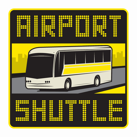 Airport Shuttle sign or symbol