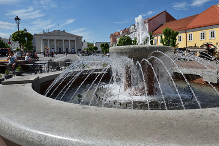 oldtown: VILNIUS - MAY 20: Vilnius Old Town on May 20, 2017 in Vilnius, Lithuania. Vilnius Old Town was included in the UNESCO World Heritage List.