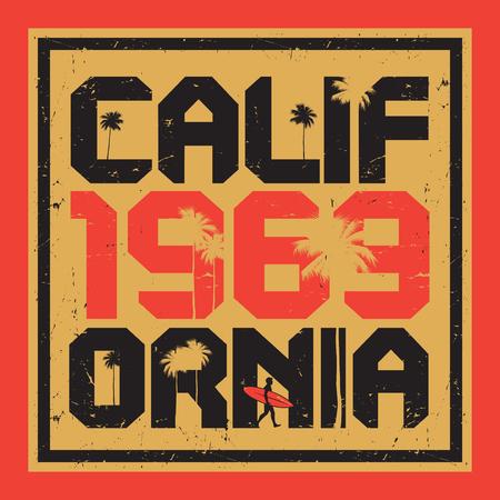 coastal: California beach, surfer poster