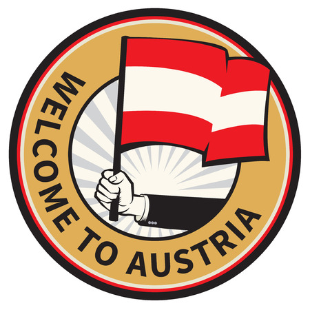 Austria country welcome sign or stamp. Vector illustration