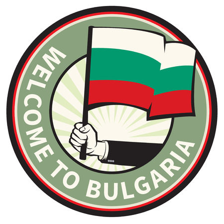Bulgaria country welcome sign or stamp. Vector illustration Illustration