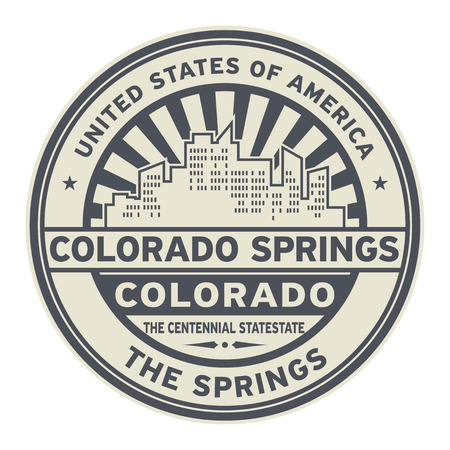Stamp or label with text Colorado Springs, Colorado written inside vector illustration.
