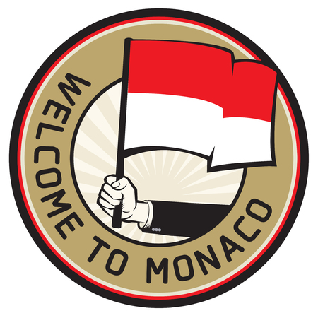 Monaco country welcome sign or stamp. Vector illustration