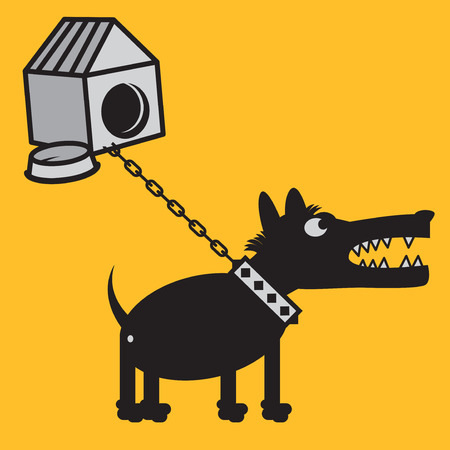 Angry dog sign or symbol, vector illustration Illustration