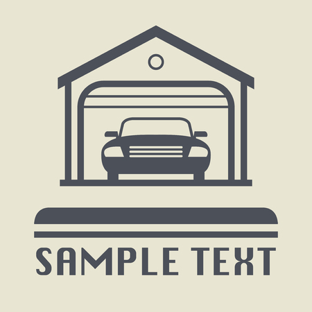 Car Garage icon or sign, vector illustration