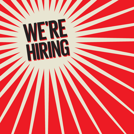 We are Hiring Poster or Banner Abstract Design, vector illustration