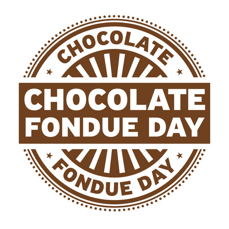 Chocolate Fondue Day rubber stamp, vector illustration. Фото со стока - 94586872