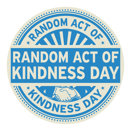 Random Act of Kindness Day rubber stamp, vector Illustration 일러스트