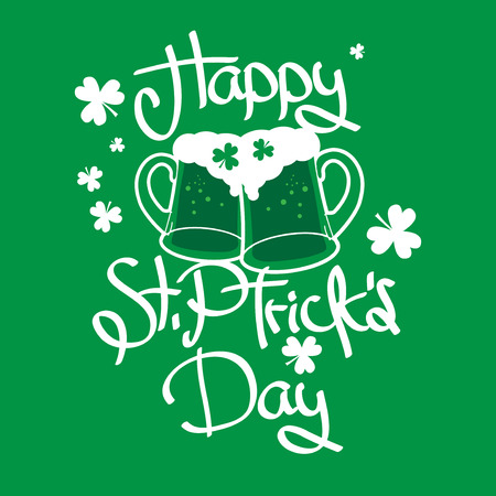 St. Patricks Day Green Background, vector illustration