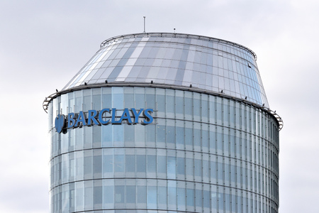 Vilnius, Lithuania - April 15, 2018: Barclays office in Vilnius on April 15, 2018. Barclays is a British multinational bank and financial services company