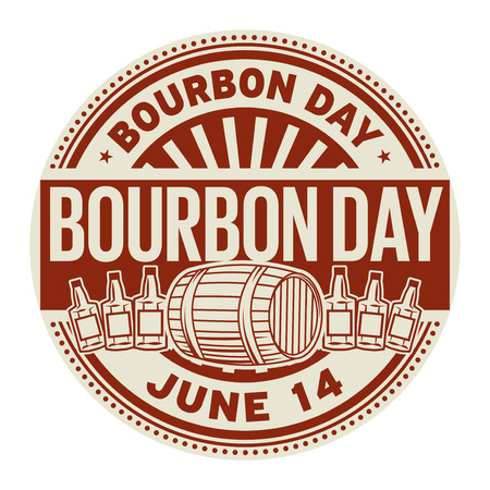 Bourbon Day, June 14, rubber stamp, vector Illustration 向量圖像