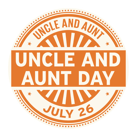 Uncle and Aunt Day,  July 26, rubber stamp, vector Illustration Ilustração