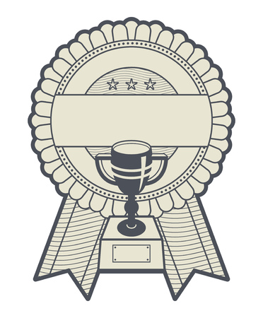 Abstract award or medal with space for text, vector illustration