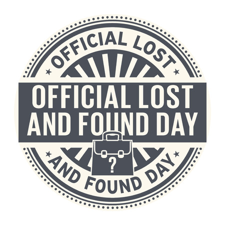 Official Lost and Found Day, rubber stamp, vector Illustration