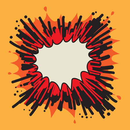 Power explosion abstract, vector illustration