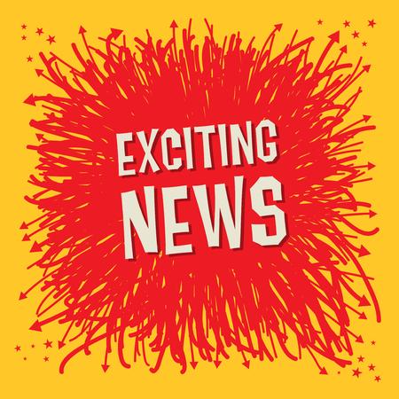 Emocionante cartel de noticias o diseño abstracto de banner, ilustración vectorial