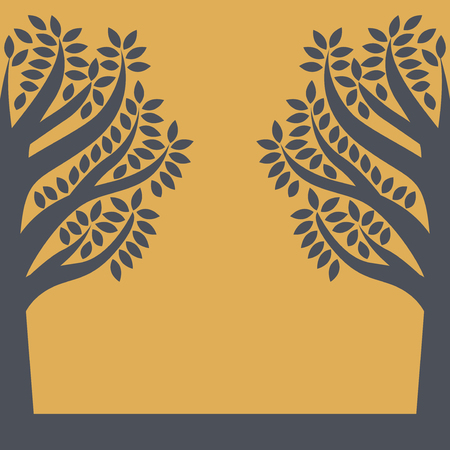 Silhouette of a trees. Sign or symbol. Vector illustration 写真素材 - 113371973