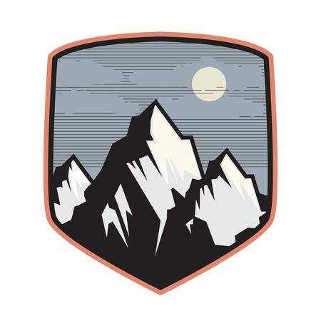 Mountain logo, icon or symbol design template, vector illustration