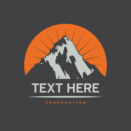 Mountain Logotype, Label, Badge and other design. Outdoor Adventure Sign or Symbol, vector illustration