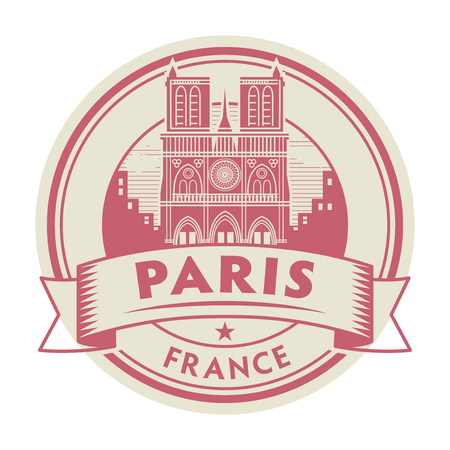 Abstract rubber stamp with words France, Paris inside, vector illustration  イラスト・ベクター素材