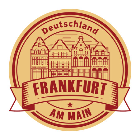 Abstract rubber stamp with words Frankfurt am Main, Germany inside, vector illustration Vector Illustration