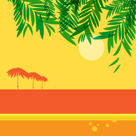 Beach vacation Poster or Banner Abstract Design, vector illustration