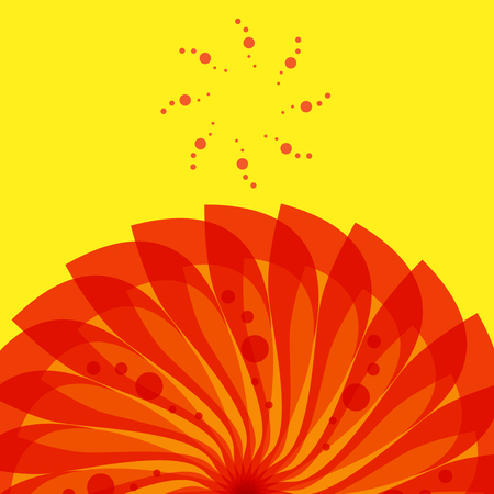 Abstract color swirl background, vector illustration  イラスト・ベクター素材