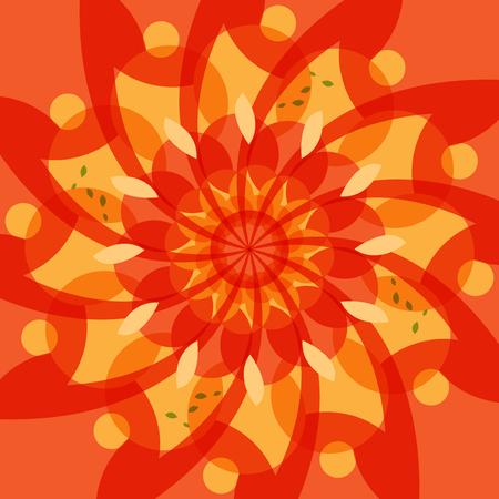 Abstract color swirl background, vector illustration Ilustração