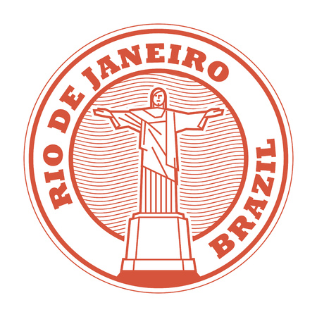 Abstract rubber stamp with text Rio de Jeneiro, Brazil inside, vector illustration Illustration