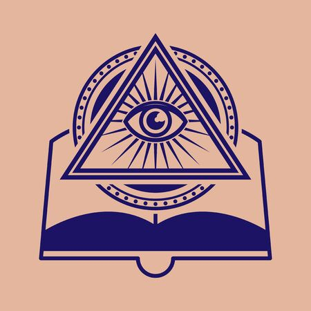 Illuminati Symbol Design. All See Eye Sign. Vector illustration Ilustração