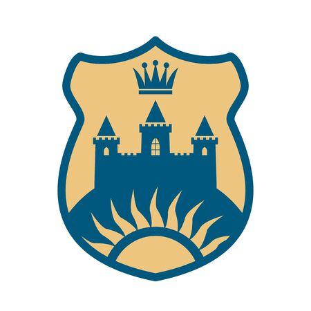 Royal Lion shield design, abstract vector illustration Illusztráció
