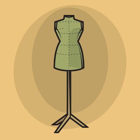 Dressmakers or tailors dummy or mannequin, abstract vector illustration Illustration