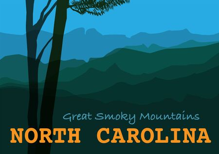 Great Smoky Mountains in North Carolina, United States