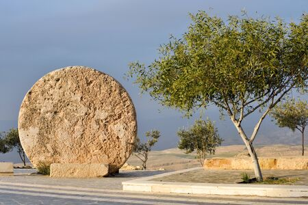 Old portal of the monastery at Mount Nebo, Jordan
