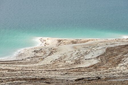 Coastline of the Dead Sea, Jordan Stock Photo