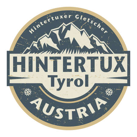 The Hintertux Glacier is the tourist name for the glaciers of the Gefrorene-Wand-Kees, Austria, vector illustration