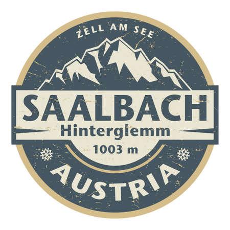 Saalbach-Hinterglemm, Austria, vector illustration