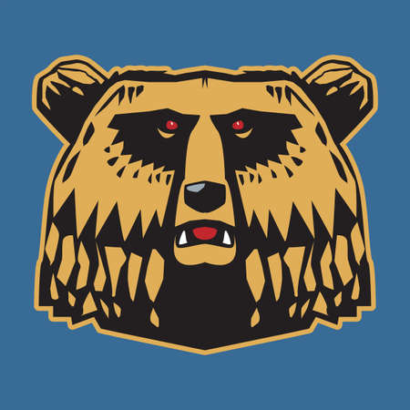 Bear Head, abstract vector illustration Иллюстрация