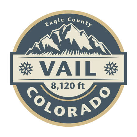 Vail Ski Resort is a ski resort located near the town of Vail in Eagle County, Colorado. Vector illustration Иллюстрация