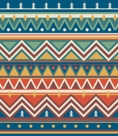 Retro geometric pattern design, Christmas style, vector illustration