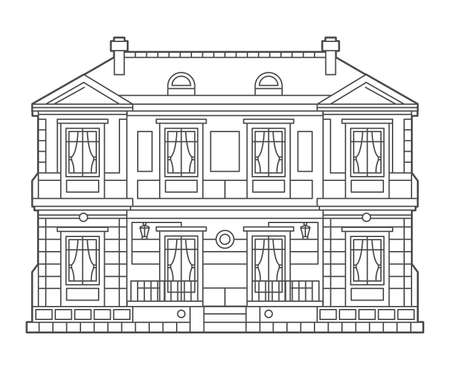 Vintage italian or french chateau house, vector illustration Vecteurs