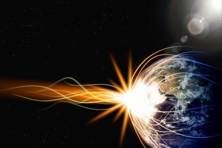 Fantastic background - destroing planet in space Stock Photo - 8198435