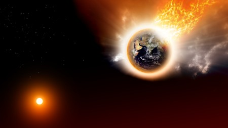 2012 background - destroing planet in space Stock Photo - 8198386