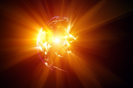 2012 abstract background - planet explosion Stock Photo - 8538644